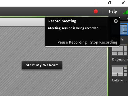 record meeting start
